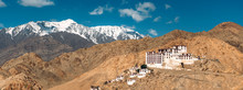 India, Ladakh, Panorama Of Secluded Buddhist Monastery In Himalayas