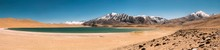 India, Ladakh, Panorama Of Small Lake In Himalayas