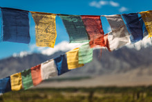 Colorful Prayer Flags Hanging ...