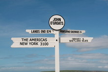 Road Sign Showing Lands End To...