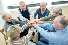 Group Of Active Seniors Stacki...