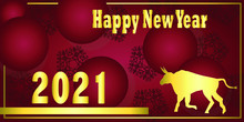 Golden Happy New Year 2021 And...
