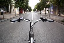 Electric Bicycle Wheel On The ...