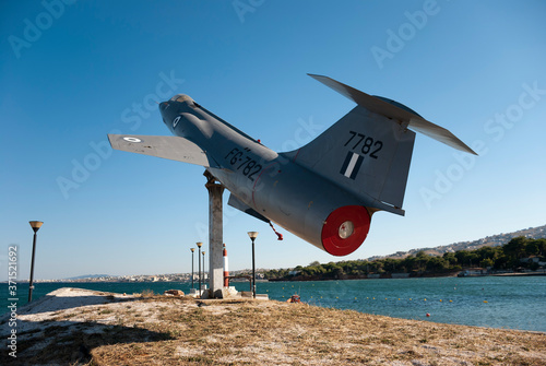 Athens, Greece, August 2020: Retired Lockheed F-104 Starfighter jet Wallpaper Mural