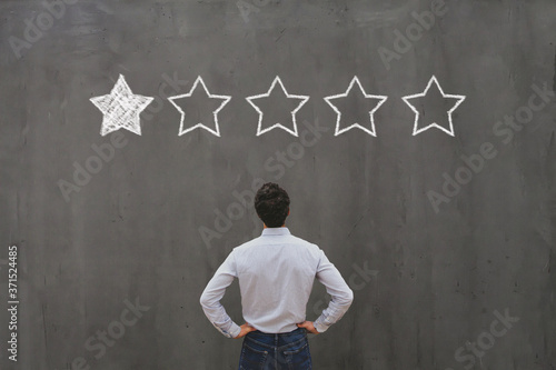 bad rating and negative reviews concept, reputation management and customer rela Canvas