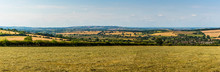 A Panorama View Across The Cotswold Hills, UK In The Summertime
