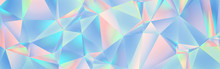 Abstract Geometric Holographic Crystal Background Banner
