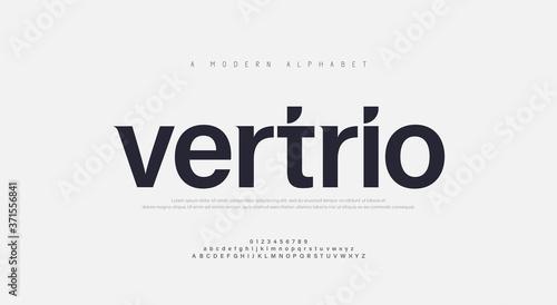 Obraz na plátně Abstract modern urban alphabet fonts
