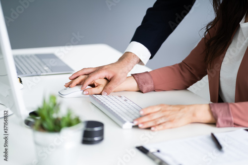 Fotografie, Obraz Sexual Harassment At Workplace