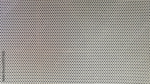 Canvastavla metal grid background,Steel with black hole grilles for the background