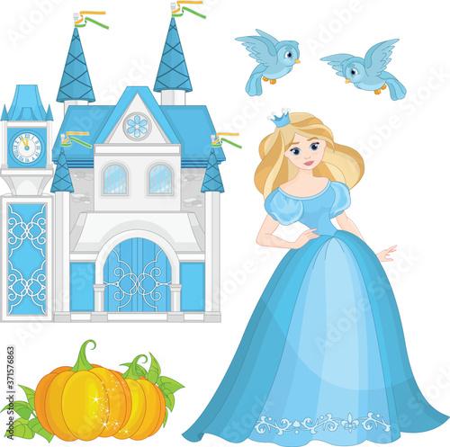 Fairytale Set Cinderella Fototapeta