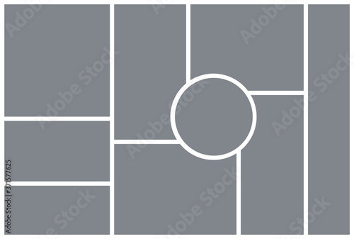 Fotografia, Obraz Photo collage template