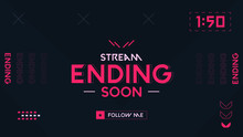 Stream Ending Background Orang...