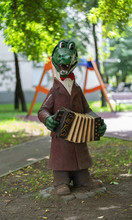 Children's Playground With Russian Cartoon Character In Moscow Crocodile Gena.