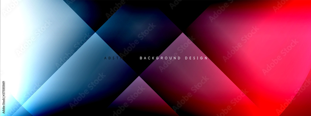 Fototapeta Vector abstract background - circle and cross on fluid gradient with shadows and light effects. Techno or business shiny design templates for text