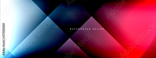 Obraz Vector abstract background - circle and cross on fluid gradient with shadows and light effects. Techno or business shiny design templates for text - fototapety do salonu