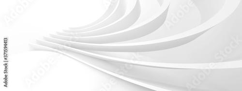 Fototapeta Modern Building Wallpaper. White Wave Texture obraz