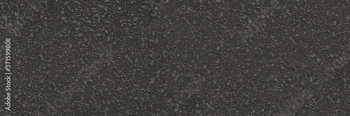 Slika na platnu Soft asphalt road zoom with perfect black detail stones