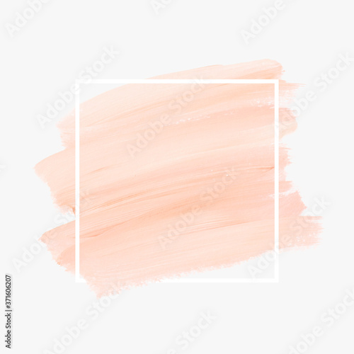 Logo brush painted watercolor background vector Fototapete