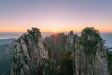 Huangshan, A Mountain Range In...