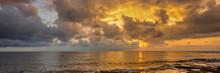 Lake Erie In Ohio At Sunrise