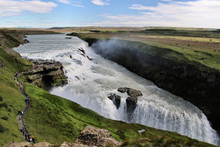 A View Of The Gulfoss Waterfal...
