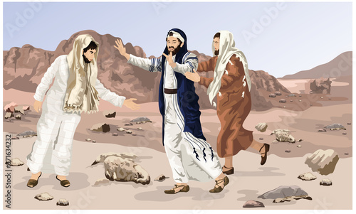 Saul's Conversion, Saul Led To Damascus Blind, Acts 9 Wallpaper Mural