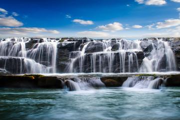 Panel Szklany Wodospad waterfall in thailand