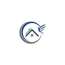 Simple Bird House Logo