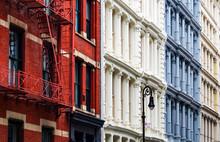 Cast-Iron Building Facades In SoHo, New York City, USA