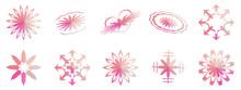 Vector Set Of Flower, Star, He...