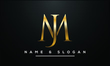 JM ,MJ,J ,M Abstract Letters Logo Monogram