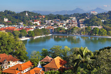 View Over The City Of Kandy In Sri Lanka