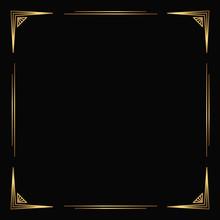 Vector Golden Frame On The Bla...