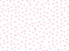 Pink Abstract Pattern. Polka Dot Pink Vector Pattern.  Brush Stroke Circle Polka Dot Pink Vector Pattern.