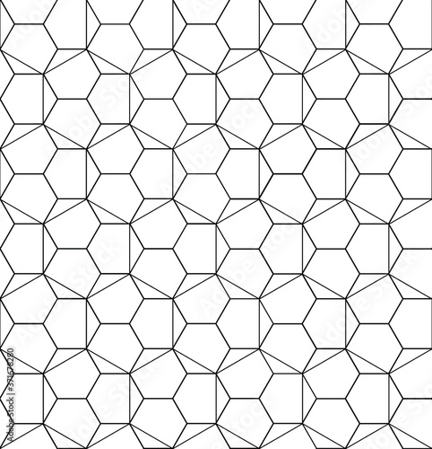 Tapety białe  seamless-hexagon-pattern-on-a-white-background