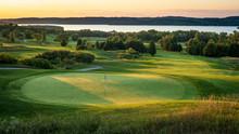 Sunrise Over Golf Course