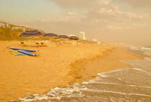 Santa Monica Beach Umbrellas & Surfboards