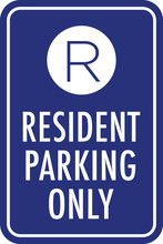Resident Parking Only Sign | Vector Signage For Property Management & Assisted Living Facilities