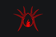 Red Back Spider With Flame Sym...