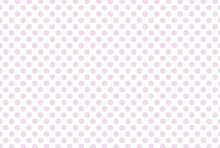 Lilac Polka Dot On White Background. Pink Polka Dot Pattern.  Polka Dot Pattern.
