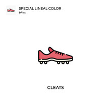 Cleats Special Lineal Color Vector Icon. Cleats Icons For Your Business Project