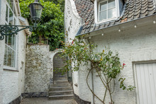 Narrow Alley With A Wall With ...