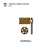 Korfball Special Lineal Color Vector Icon. Korfball Icons For Your Business Project