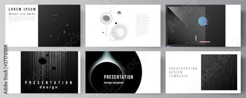 Photo Vector layout of the presentation slides design business templates, multipurpose template for presentation brochure, brochure cover