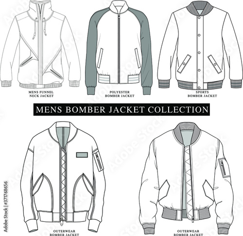 Carta da parati MENS BOMBER JACKET VECTOR ILLUSTRATION