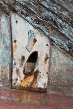 Close Up Of Anchor Hawse Hole ...