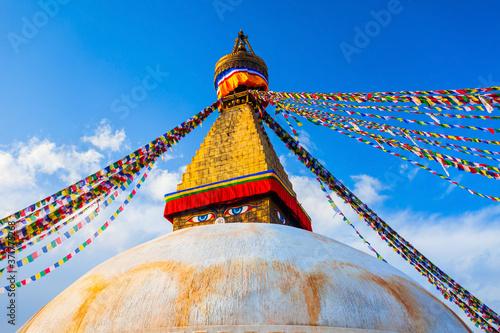 Obraz na plátně Boudhanath Great Stupa in Kathmandu, Nepal