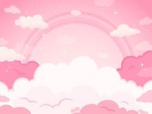 Pink Fairytale Sky Background ...