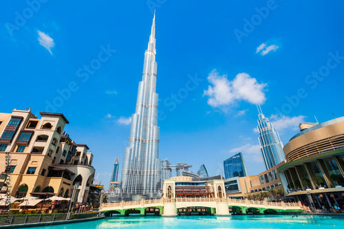 Canvas Burj Khalifa tower in Dubai